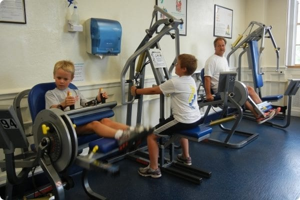 Children using the Equipment room