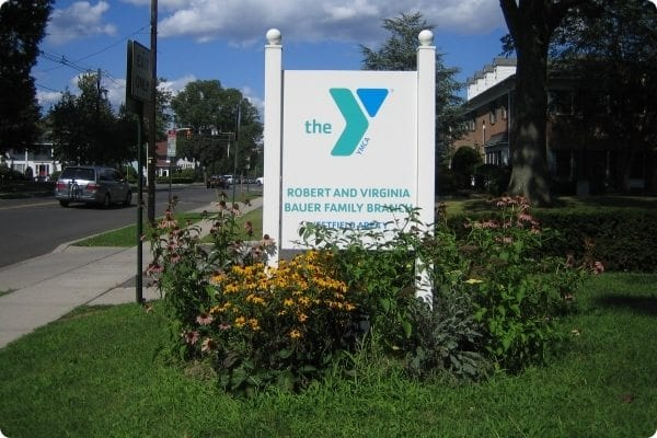 YMCA Sign for the Family Branch