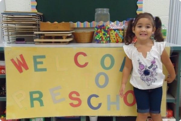 Child at Preschool classroom
