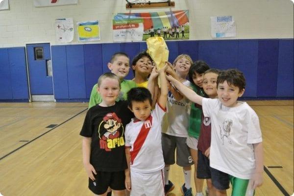 Camp team winning sports tournament