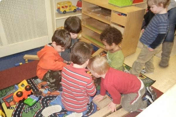 Kids learning at Garwood Family Center