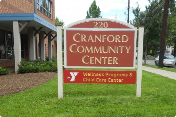 Cranfield Community Center Sign