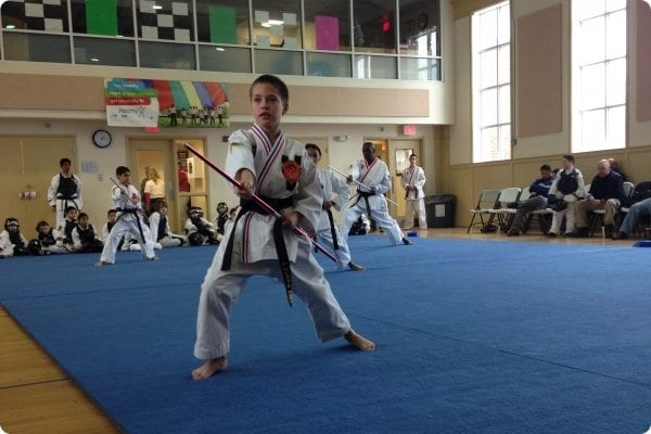 Child participating in Martial Arts