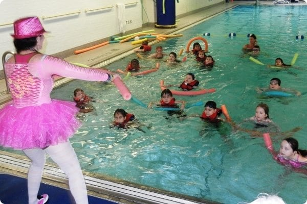 Aqua Zumba class for kids