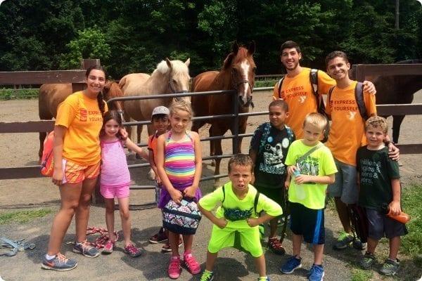 children with horses